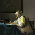 A Lady Writing by Jan Vermeer