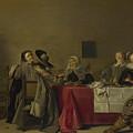 A Merry Company At Table by Hendrick Pot