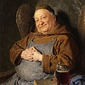 A Seated Monk With A Tankard by Celestial Images