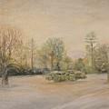 A Snowy Morn At Dalhebity by Douglas Ann Slusher