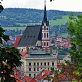 A View Of Cesky Krumlov In The Czech Republic by Richard Rosenshein