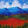 A View Of The Blue Mountains Of The Adirondacks by Mike Kraus