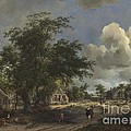 A View On A High Road by Meindert Hobbema