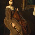 A Young Violoncellist by Lilla Cabot Perry