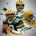 Aaron Rodgers Packers by Joe Hamilton