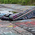 Abandoned Couch On The Graffiti Highway by Ben Schumin