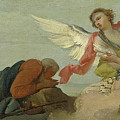 Abraham And The Three Angels by Francesco Zugno