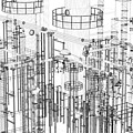 Abstract Industrial And Technology Background by Michal Bednarek