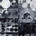 Abstract Painting - Light Gray by Vitaliy Gladkiy