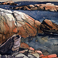 Acadia Rocks by Donald Maier