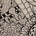Aceo Zentangle Abstract Design by Jill Christensen