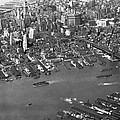 Aerial View Of Lower Manhattan by Underwood Archives