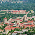 Aerial View Of The Beautiful University Of Colorado Boulder by Chon Kit Leong