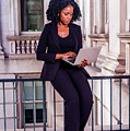 African American Businesswoman Working In New York by Alexander Image