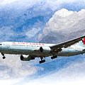 Air Canada Boeing 767 Art by David Pyatt