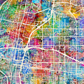 Albuquerque New Mexico City Street Map by Michael Tompsett