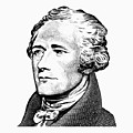 Alexander Hamilton - Founding Father Graphic  by War Is Hell Store