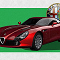 Alfa Romeo Zagato  T Z 3  Stradale With 3 D Badge  by Serge Averbukh