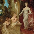 Allegory Of Painting by Hans Makart