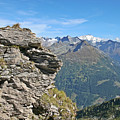 Alps Mountain Landscape  by Moshe Torgovitsky