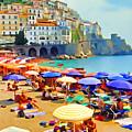 Amalfi Beach by Dennis Cox
