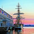 Amerigo Vespucci Tall Ship by Larry Richardson