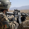 An Afghan Commando Scans The Horizon by Stocktrek Images