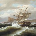 An American Ship In Distress by Thomas Birch