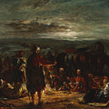 An Arab Camp At Night by Eugene Delacroix