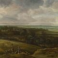 An Extensive River Landscape by Cornelis Van Der Schalcke