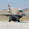 An Israeli Air Force F-16a Netz Taxiing by Riccardo Niccoli