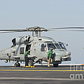 An Mh-60r Seahawk Embarked Aboard Uss by Giovanni Colla