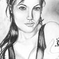Angelina Jolie Portrait by Alban Dizdari