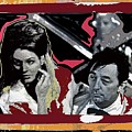 Angie Dickinson Robert Mitchum Pose Collage Young Billy Young Old Tucson Arizona 1968-2013 by David Lee Guss