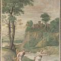 Apollo Pursuing Daphne by PixBreak Art