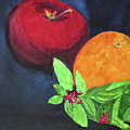 Apple, Orange And Red Basil by Sandy McIntire