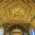 Architectural Artistry Within The Vatican Museum In The Vatican City by Richard Rosenshein