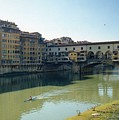Arno River In Florence Italy by Marna Edwards Flavell