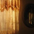 Art Homage Edward Hopper Winter Light  Window Curtain Reflection Bedroom Casa Grande Arizona 2005  by David Lee Guss