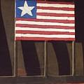 Art Homage Jasper Johns Flag Window Silver Dollar Bar Eloy Arizona 2004 by David Lee Guss