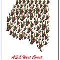 Asl West Coast Map by Eloise Schneider Mote