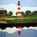 Assateague Island Lighthouse by Frederic Kohli