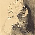 """At The Renaissance: Sarah Bernhardt In """"phedre"""" (a La Renaissance: Sarah Bernhardt Dans """"ph?dre"""") by Henri De Toulouse-lautrec"""