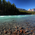 Athabasca River In Jasper National Park by Mark Duffy
