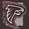 Atlanta Falcons Logo T-shirt by Herb Strobino