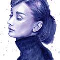 Audrey Hepburn Portrait by Olga Shvartsur