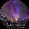Aurora Borealis Over Iceland Fisheye by Babak Tafreshi