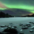 Aurora Borealis Over Sandvannet Lake by Arild Heitmann