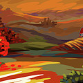 Autumn Landscape by Gajanan Bhat