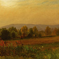 Autumn Landscape New England by Albert Bierstadt